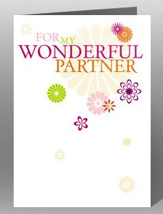 Partner Birthday Card - Wonderful Partner