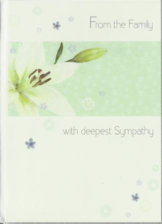 Sympathy Card - From the Family