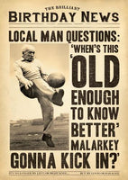 Humour Card - Local Man Questions