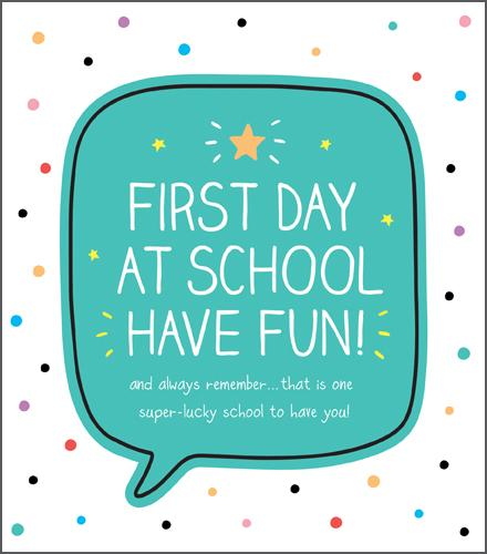 Good Luck Card - First Day Of School - Super Lucky School