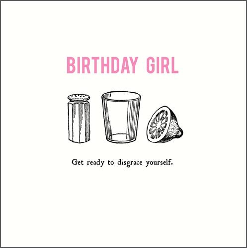 Birthday Card - Birthday Girl Get Ready