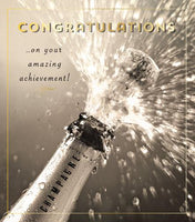 Congratulations Card - Champagne Bottle Popping