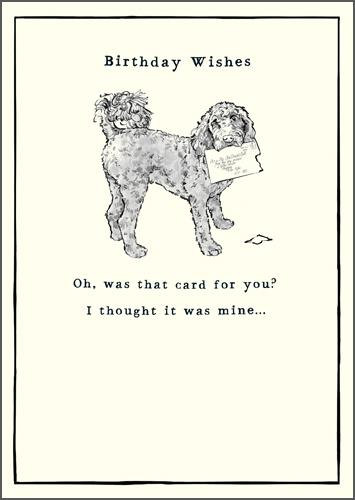 Birthday Card - Dog With Letter