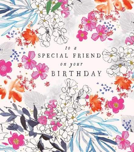 Birthday Card - Special Friend - Floral
