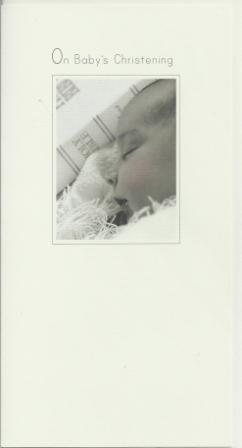 Christening Card - Baby Asleep