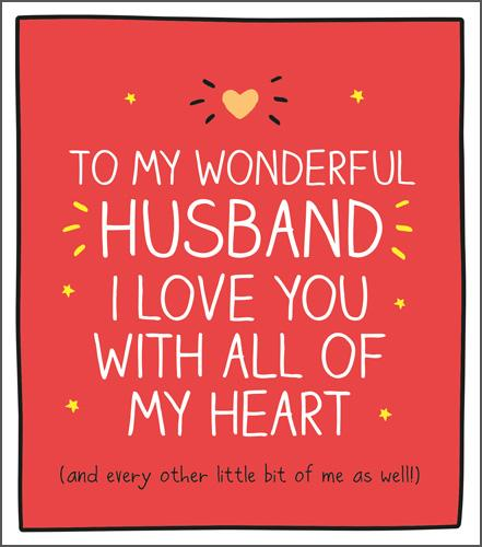 Valentine Card - Husband - Love You With All My Heart