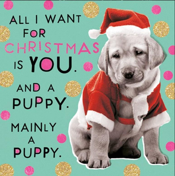 Christmas Card - Christmas Puppy