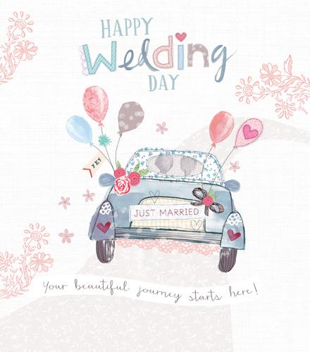 Wedding Card - Wedding Day Car