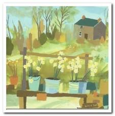 Retirement Card - Garden Flower Stall