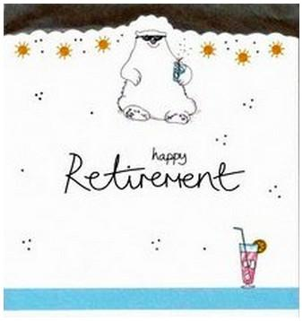 Retirement Card - Polar Bear In Sunglasses