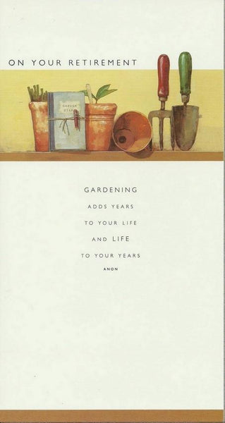 Retirement Card - Garden Pots