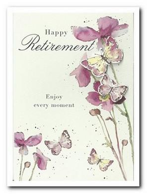 Retirement Card - Japanese Anemones