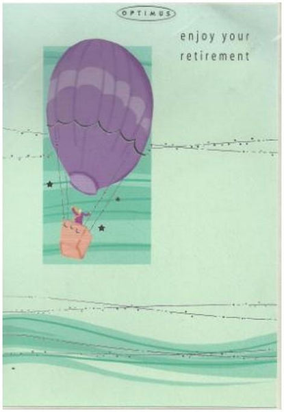 Retirement Card - Hot Air Balloon