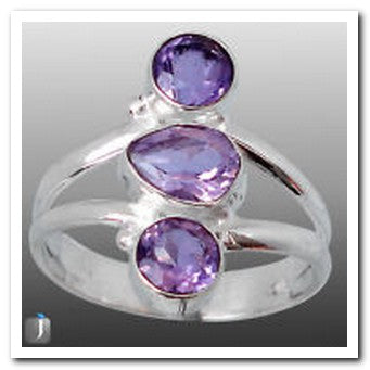 Jewellery - 925 Silver Ring - Amethyst
