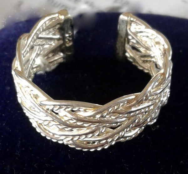Jewellery - 925 Silver Ring Basket Weave