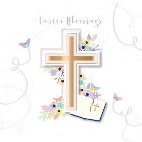Easter Card - Cross and Bible