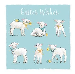 Easter Card - Easter Lambs