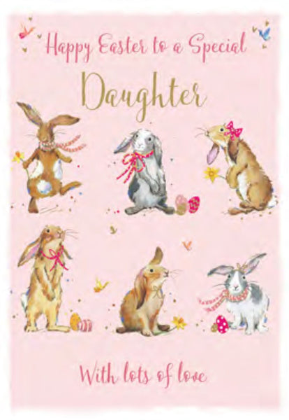 Easter Card - Daughter - Easter Bunnies