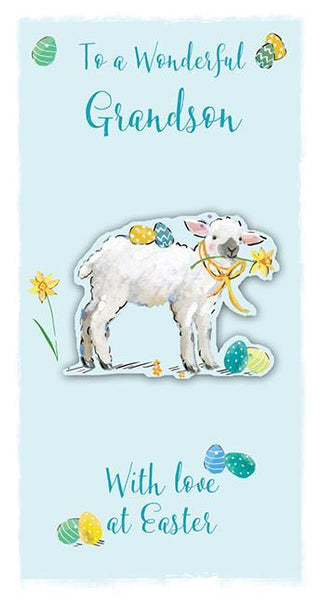 Easter Card - Grandson - Easter Lamb