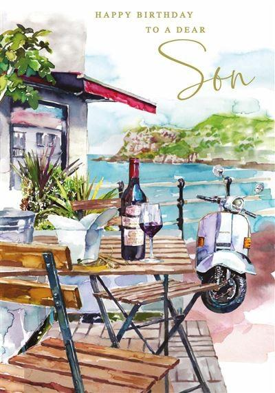 Son Birthday - Café/Scooter/Coast