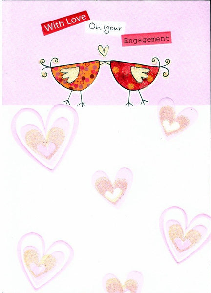 Engagement Card - Love Birds