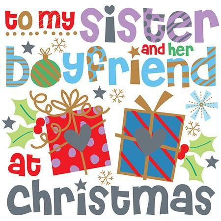 Christmas Card - Sister and Boyfriend - Large Text