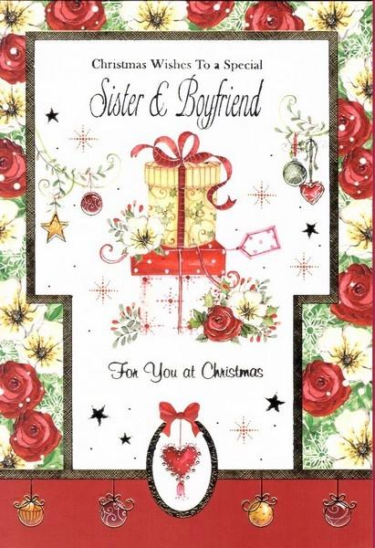 Christmas Card - Sister and Boyfriend - Presents