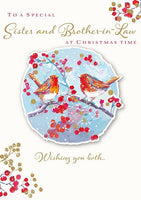 Christmas Card - Sister and Brother-in-Law - Love Birds