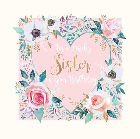 Sister Birthday - Floral Heart