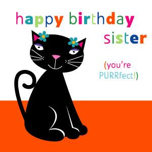 Sister Birthday - Purrfect!