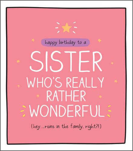 Sister Birthday - Rather Wonderful