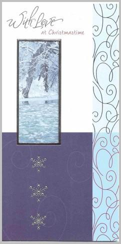 Christmas Card - One I Love - Frosty Scene