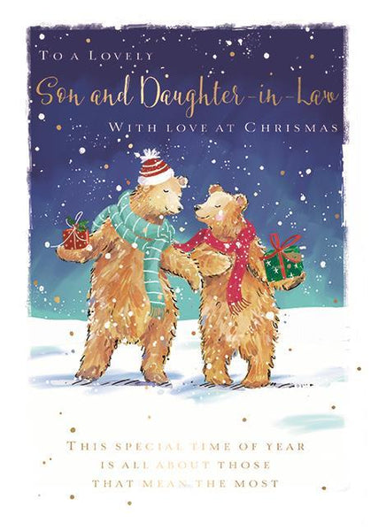 Christmas Card - Son and Daughter-in-Law - Love You Beary Much