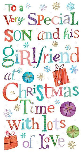 Christmas Card - Son and Girlfriend - Text