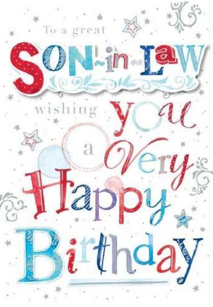 Son-in-Law Birthday - Wishes