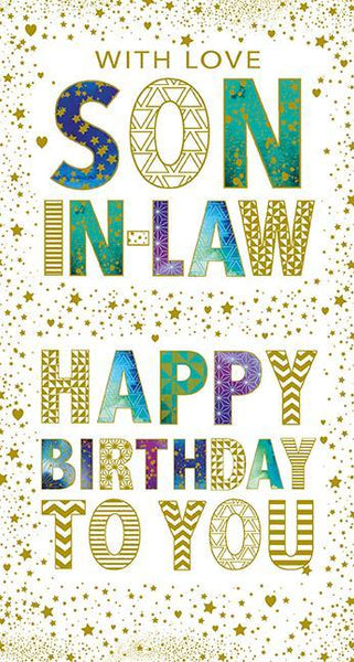 Son-in-Law Birthday - Graphic Text