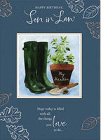Son-in-Law Birthday - Wellies & Pot plant