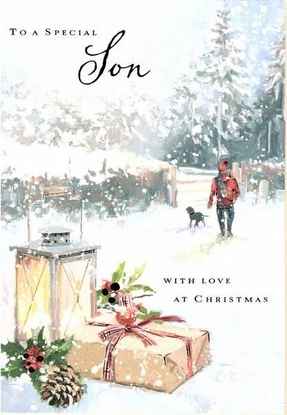 Christmas Card - Son - A Walk In The Snow