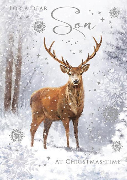 Christmas Card - Son - Lone Stag