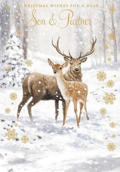 Christmas Card - Son and Partner - Deer & Doe