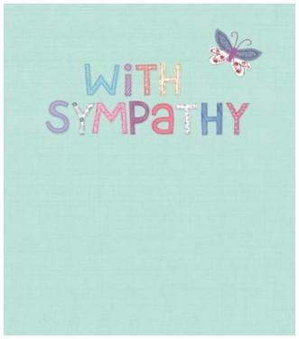 Sympathy Card - With Sympathy Butterfly