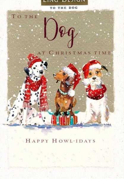 Christmas Card - To the Dog - Happy Howl-Idays