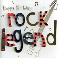 Birthday card - Rock Legend