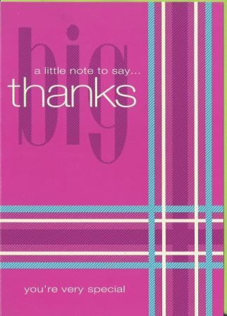 Thank You Card - a little note to say... Thanks