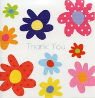 Thank You Card - Bright Flowers