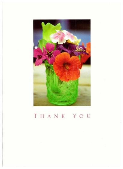 Thank You Cards - Pack of 6 Thank You Cards - Flowers In Glass