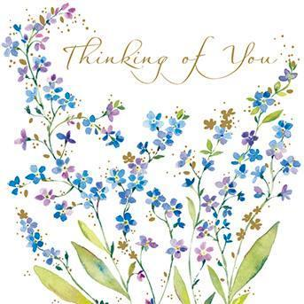 Thinking of you card - Forget-Me-Nots