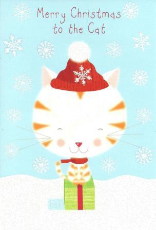 Christmas Card - To the Cat - Cat In Hat