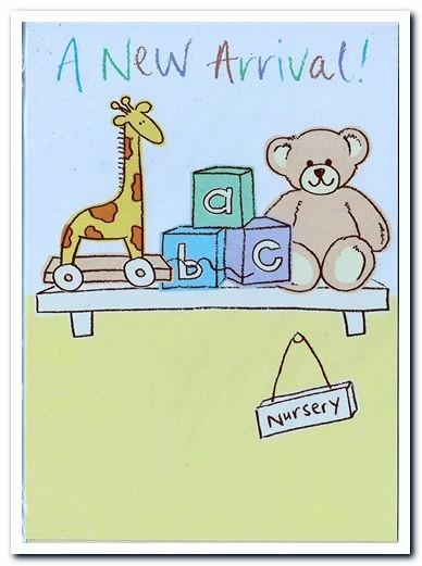 New Baby Card - Baby - Baby's Nursery Shelf