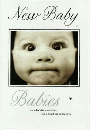 New Baby Card - Baby - Baby Pursing Lips